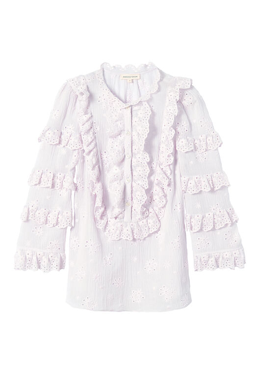 Dree Embroidered Ruffle Top