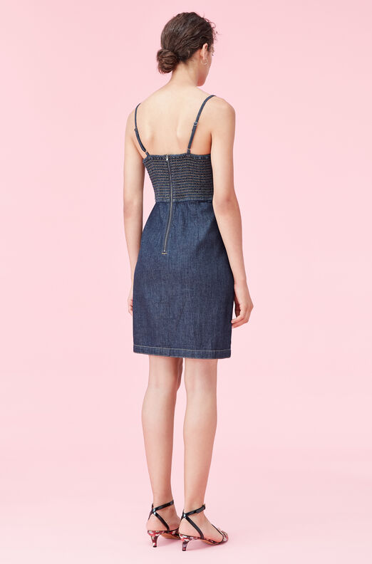 La Vie Drapey Denim Wrap Dress