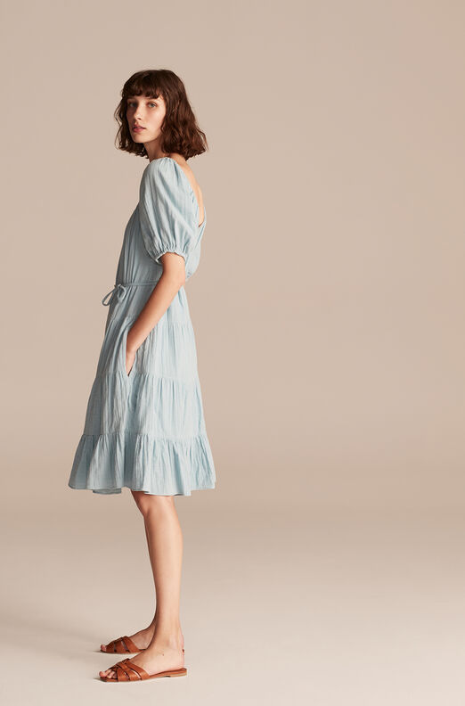 La Vie Double Gauze Dress, Blue Haze, large