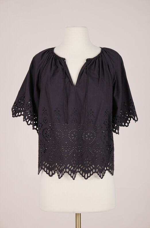 ReCollect La Vie Annabel Eyelet Top
