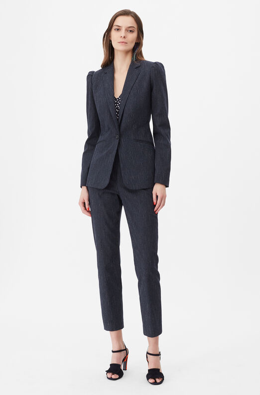 Tailored Pinstripe Suiting Blazer