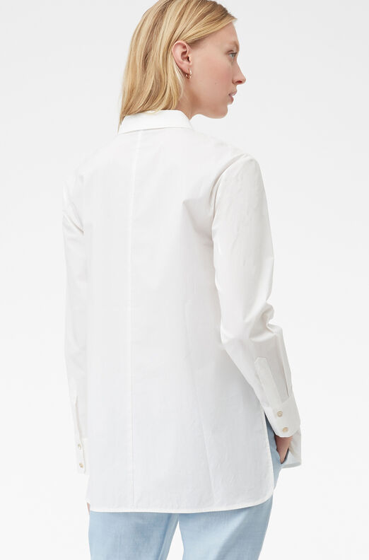 Tailored Embroidered Poplin Top