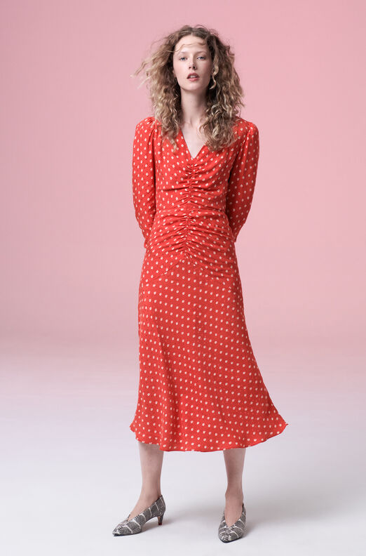 Sunrise Dot Jacquard Dress