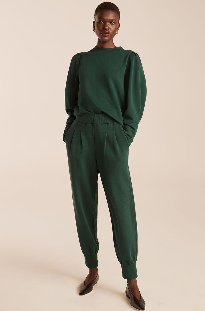 Knit Pull on Pant-Emerald
