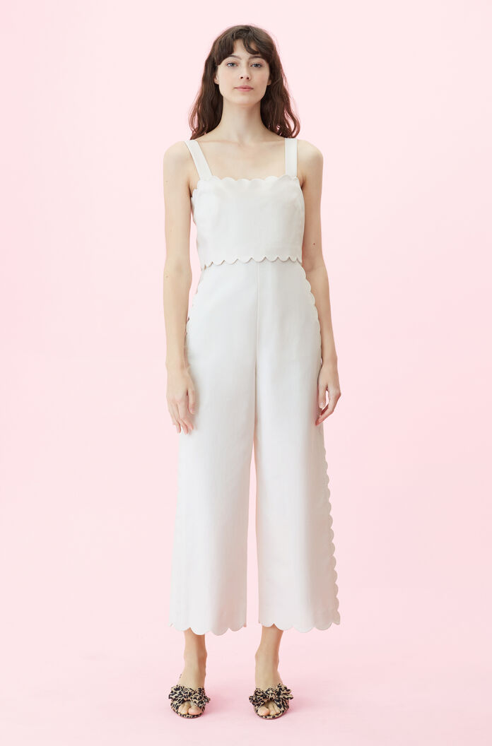 fa08b769156 Images. 119766P245-Vanilla  Scalloped Suiting Jumpsuit ...