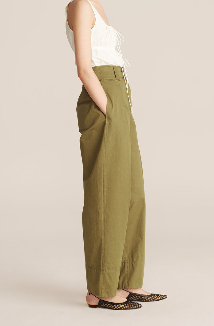 Casual Full Tapered Pant, Dark Olive, large