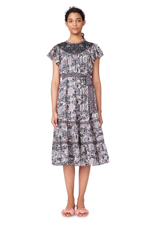 La Vie Indochine Embroidered Dress - Washed Black Combo