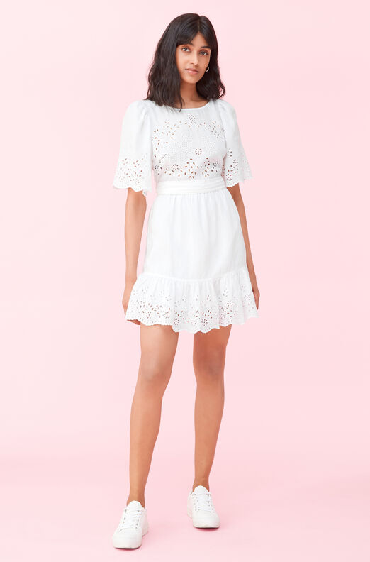 La Vie Sarcelle Embroidered Dress