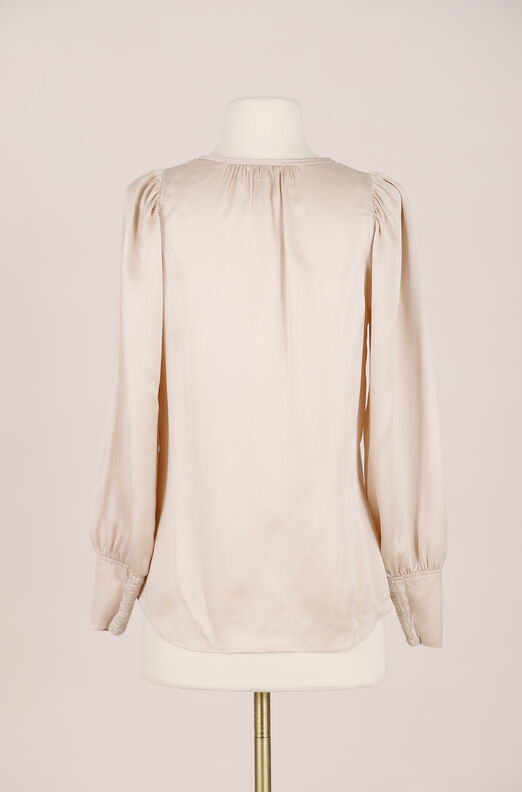 Recollect Silk Charmeuse Top