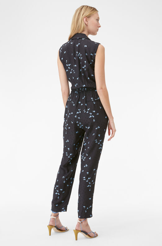 Tailored Leandra Fleur Silk Jacquard Jumpsuit