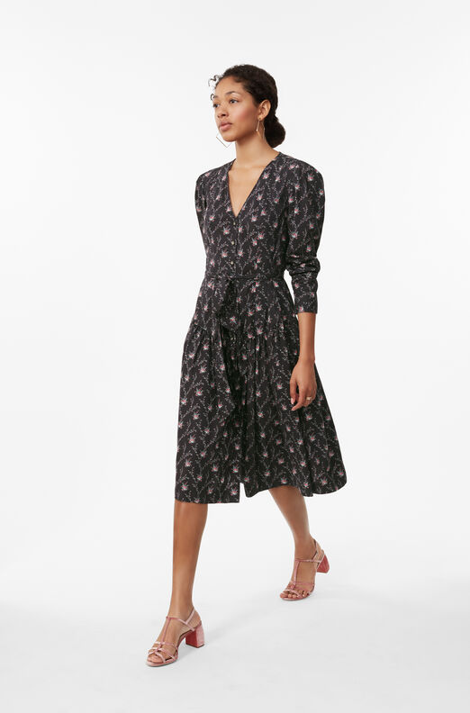 La Vie Aubrie Trellis Poplin Dress
