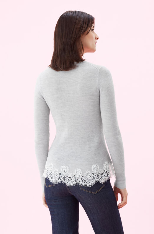 Lace Combo Pullover