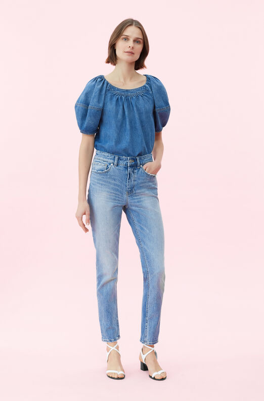 9fed6aa44f5 La Vie Drapey Denim Top