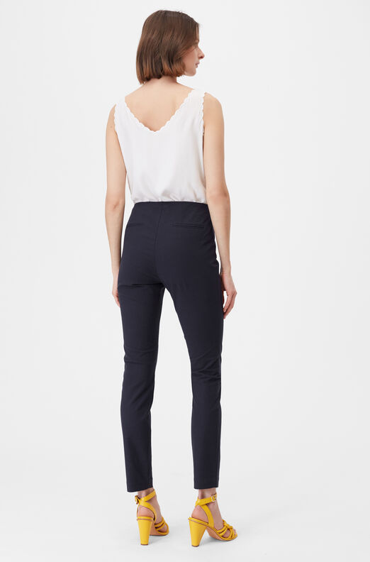 Tailored Stretch Modern Suiting Pant, Navy, large