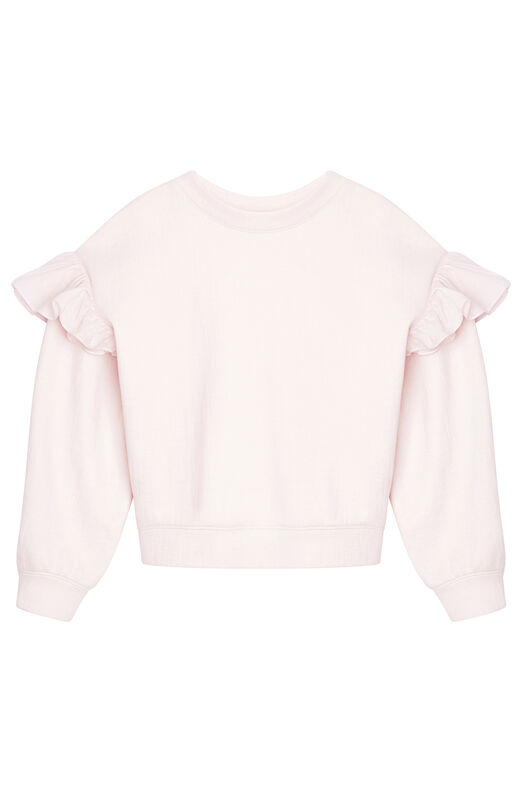 Ruffled Terry & Organdy Sweatshirt