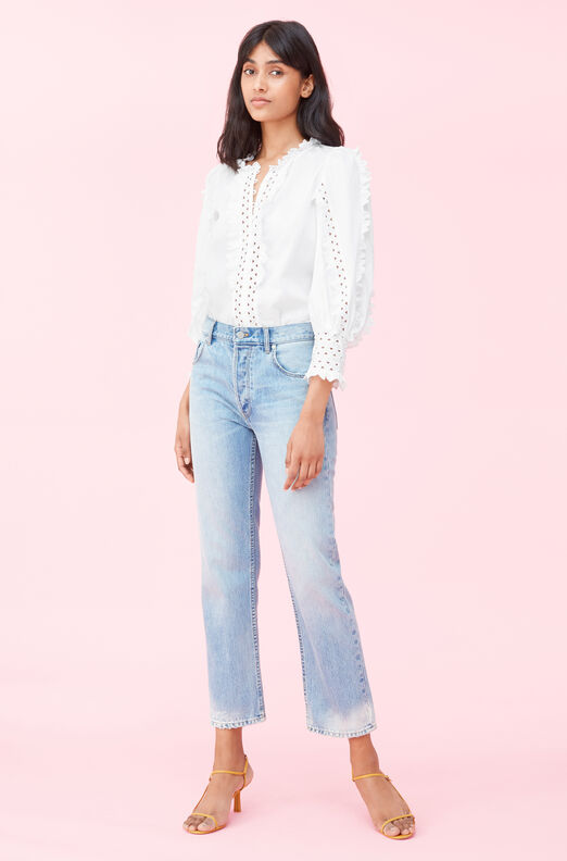 Petal Embroidered Top