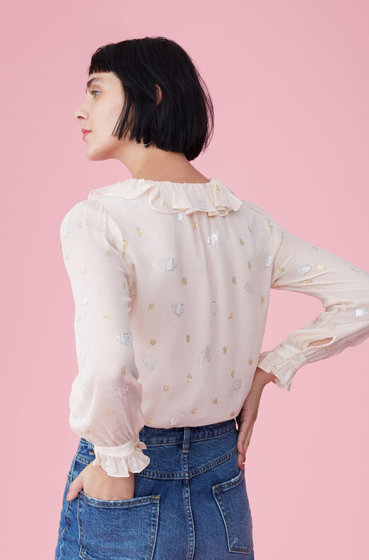Scattered Tulip Clip Top