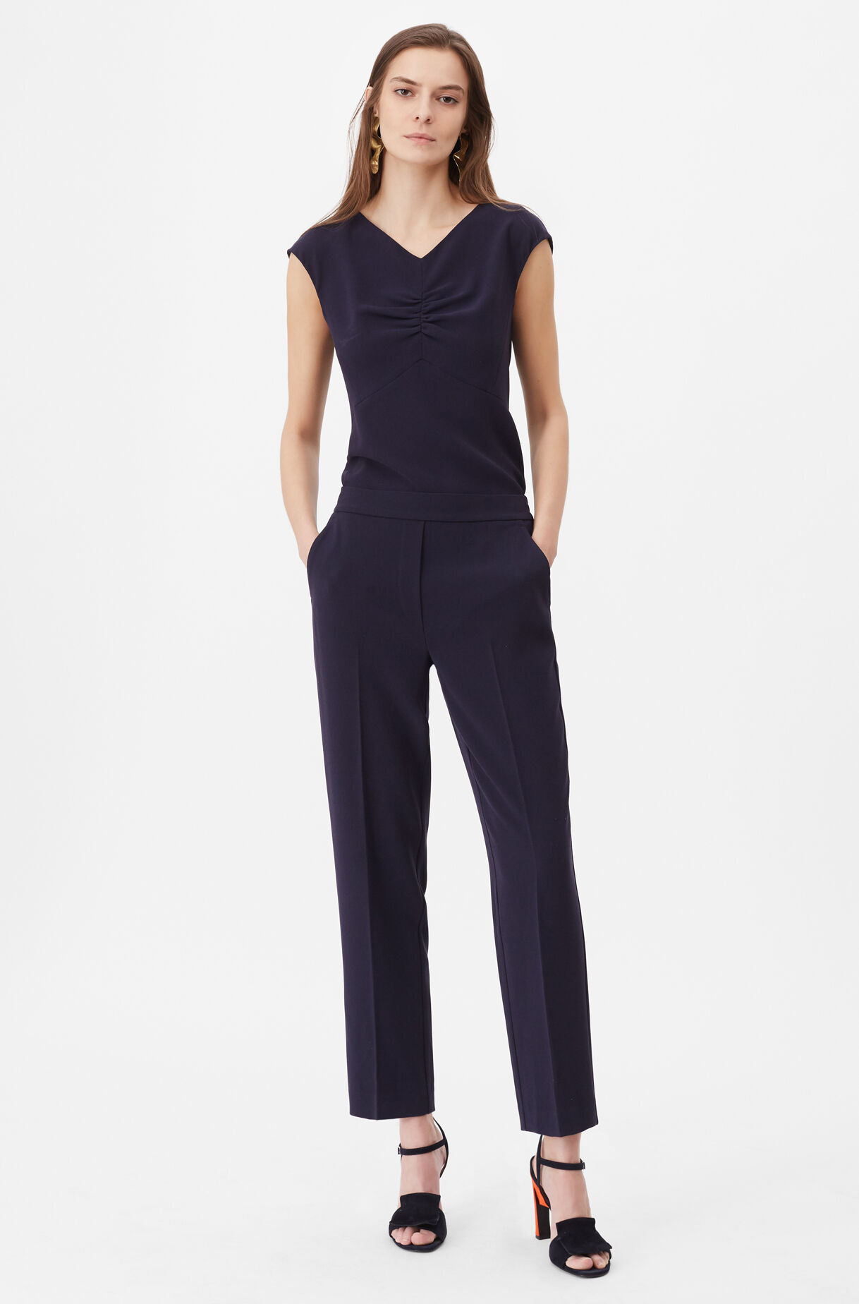 Tailored Crepe Pant, , large
