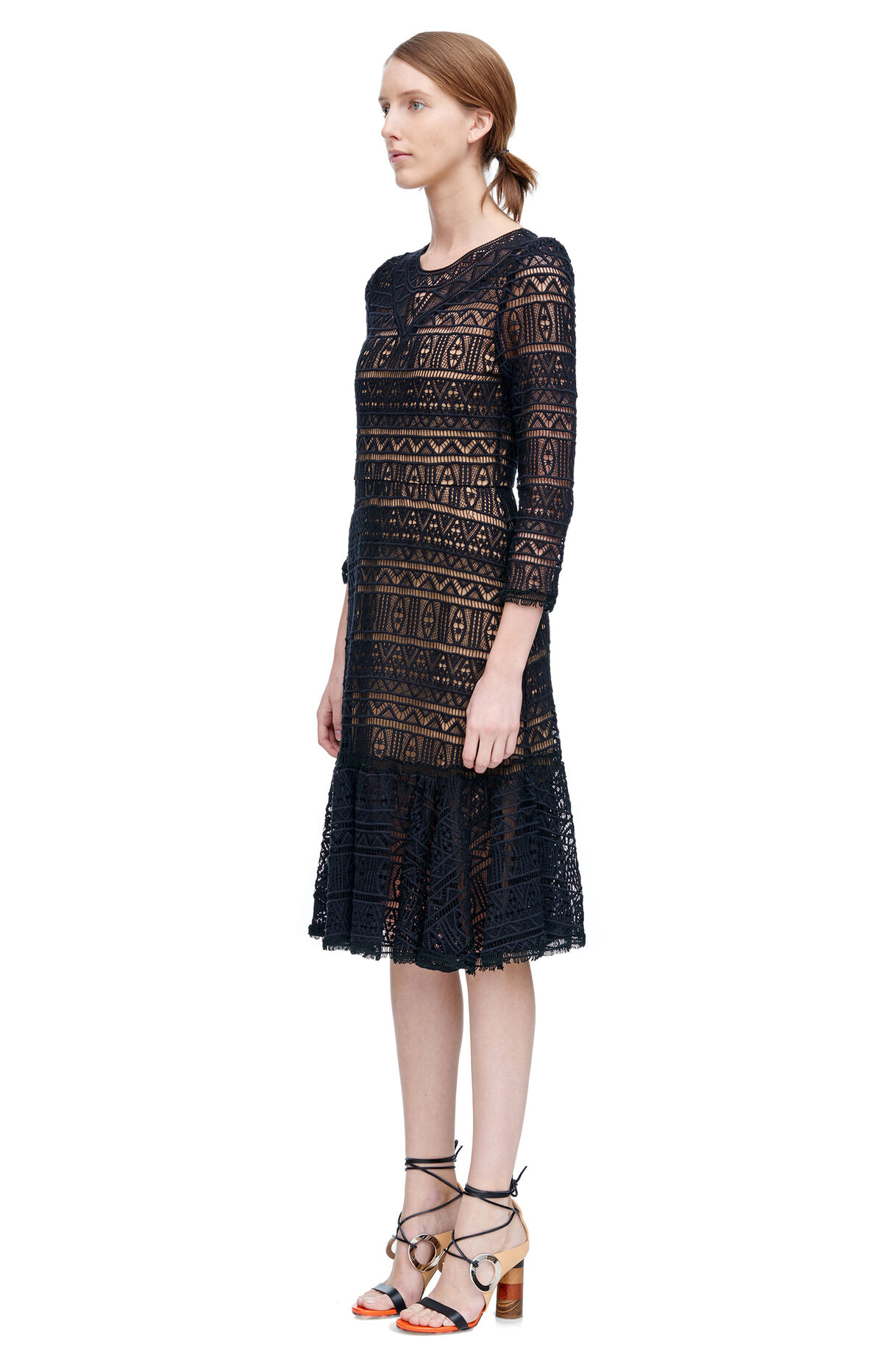 Long Sleeve Lace Dress | Rebecca Taylor
