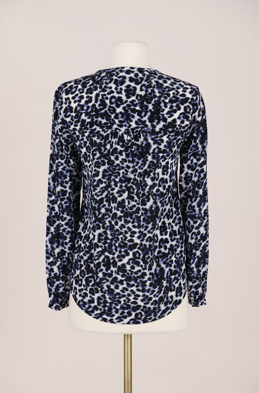 Recollect Lynx Print Top