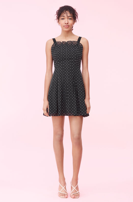 Birdseye Dot Clip Dress