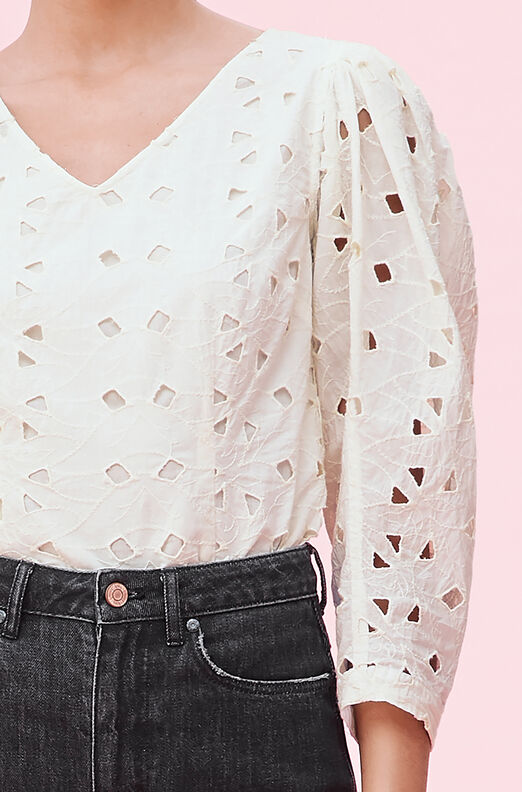 La Vie Winter Garden Embroidered Top