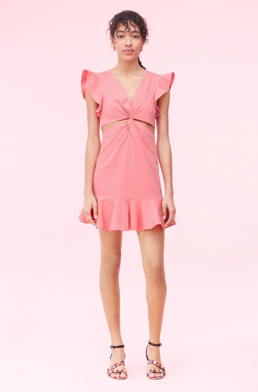 La Vie Cotton Linen Cut Out Dress