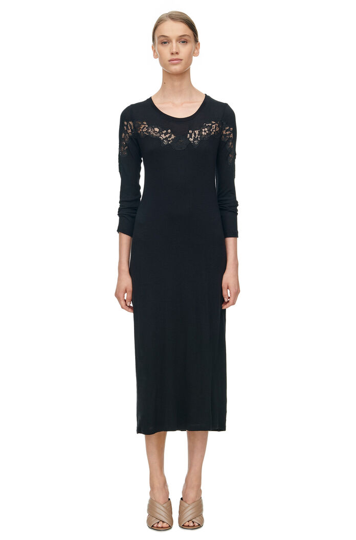 jersey dress with lace rebecca taylor