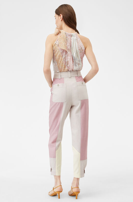 Color Block Twill Pant, Multi Combo, large