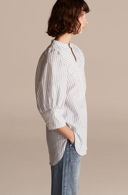 Pinstripe Tunic, Milk/sky, large
