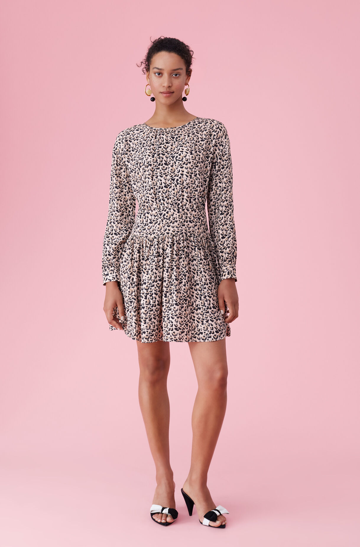 Leopard Print Silk Dress Rebecca Taylor