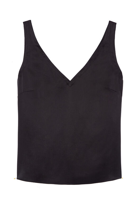 Silk Charmeuse V-Neck Tank