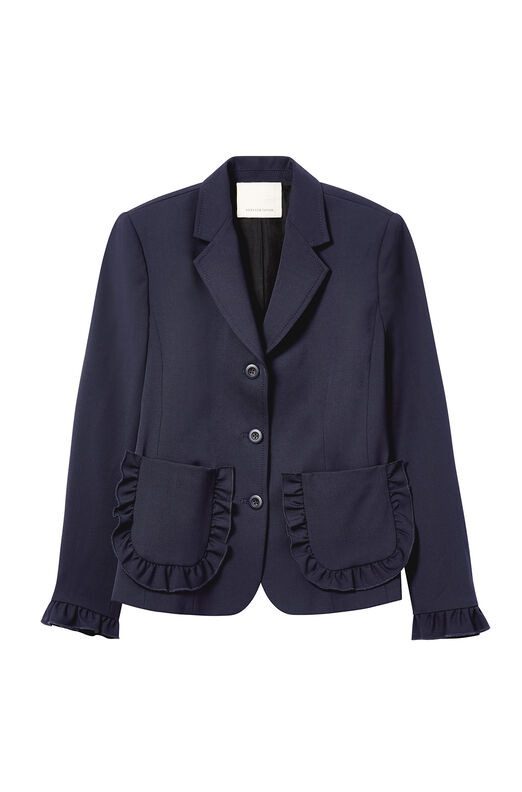 Spring Suiting Ruffle Jacket