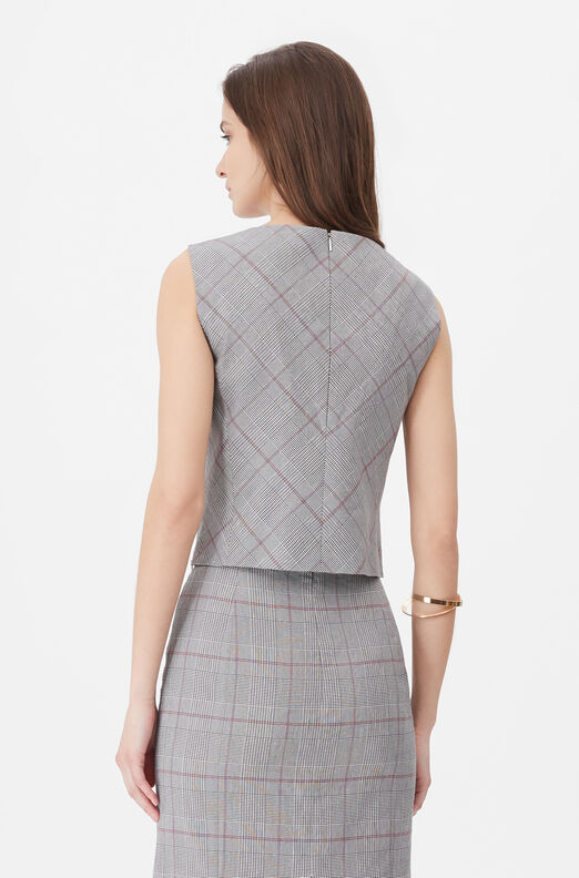 Tailored Summer Check Top