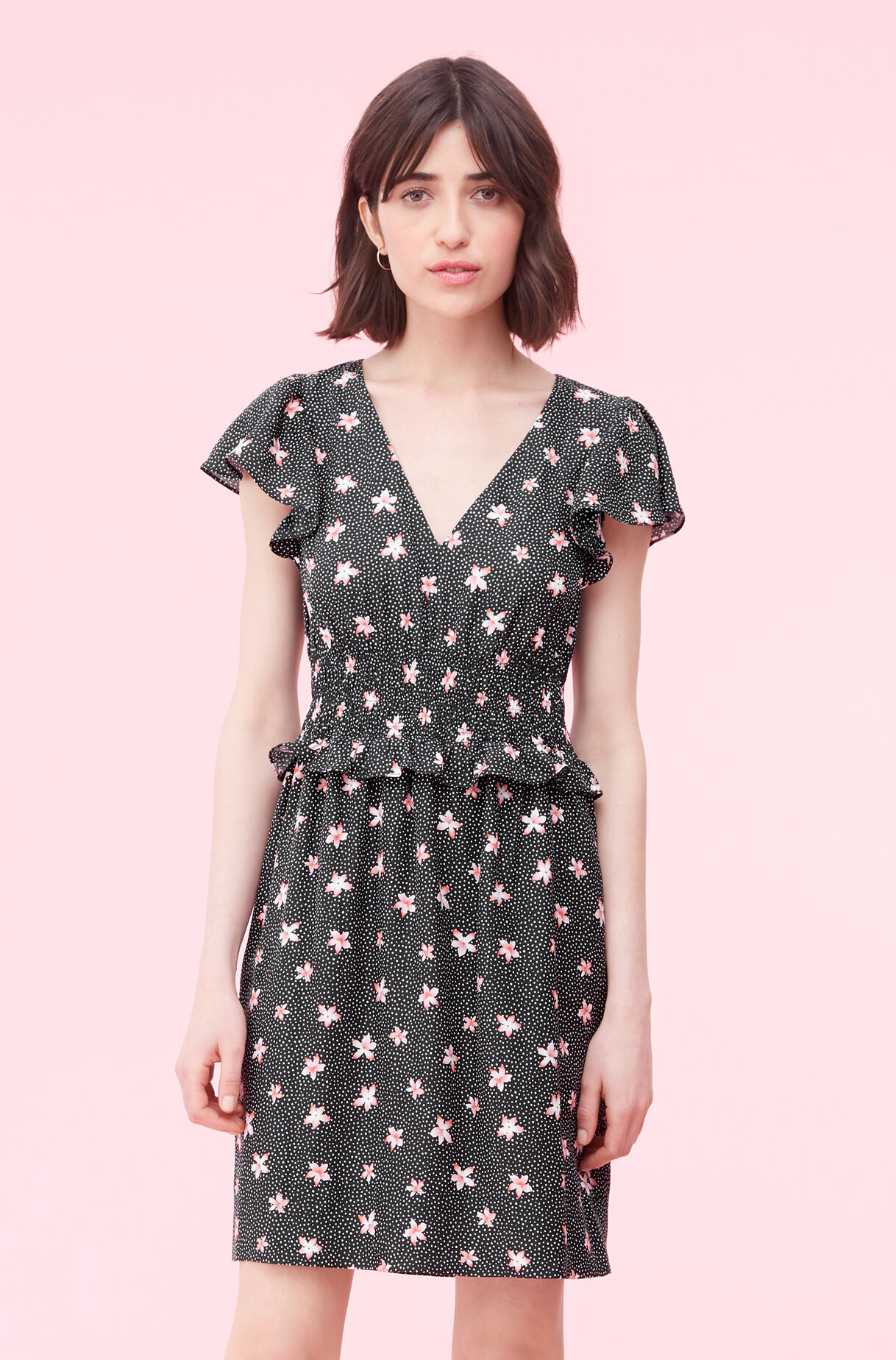 Maui Fleur Dot Jacquard Dress, , large