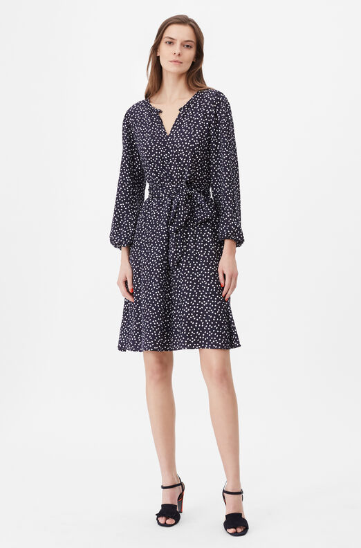 Tailored Pearl Dot Jacquard Dress
