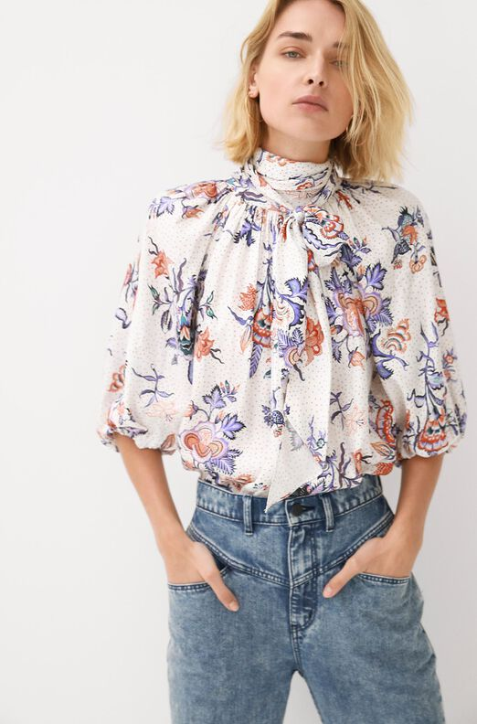 Toile Silk Twill Top