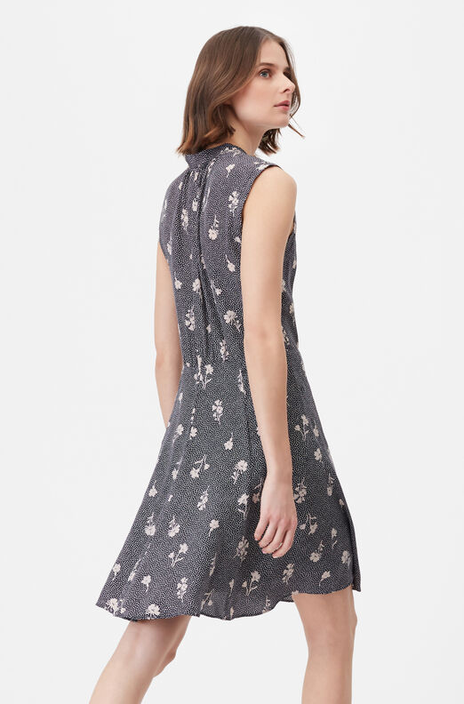 Tailored Widflower Dot Silk Jacquard Dress