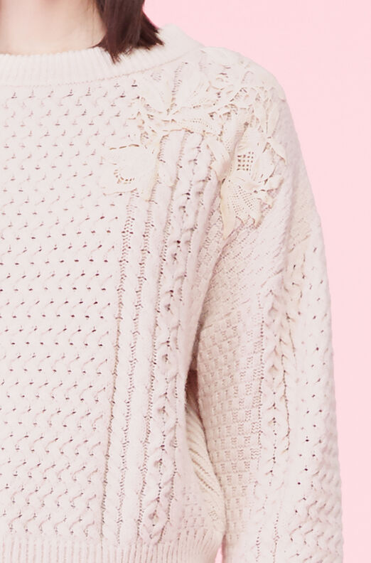 Lace Applique Pullover