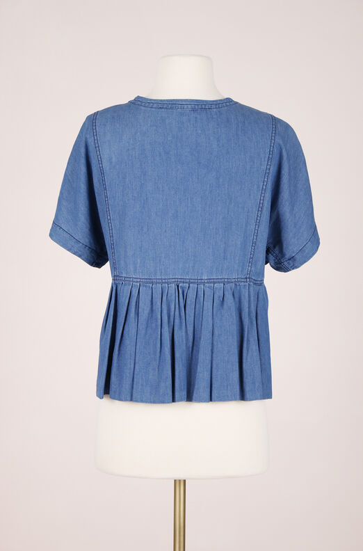 ReCollect Short Sleeve Chambray Top
