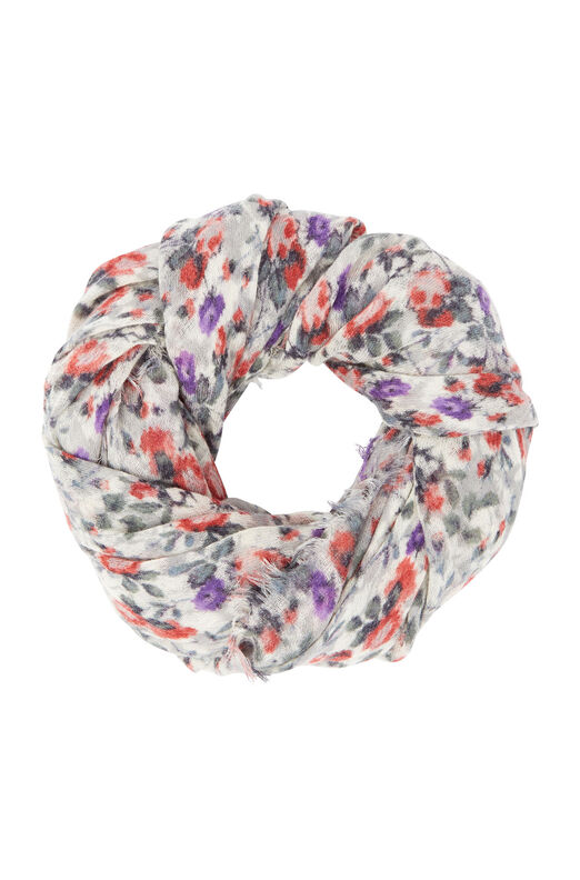 Ruby Floral Scarf - Cream Combo
