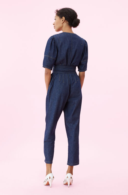 La Vie Drapey Denim Jumpsuit