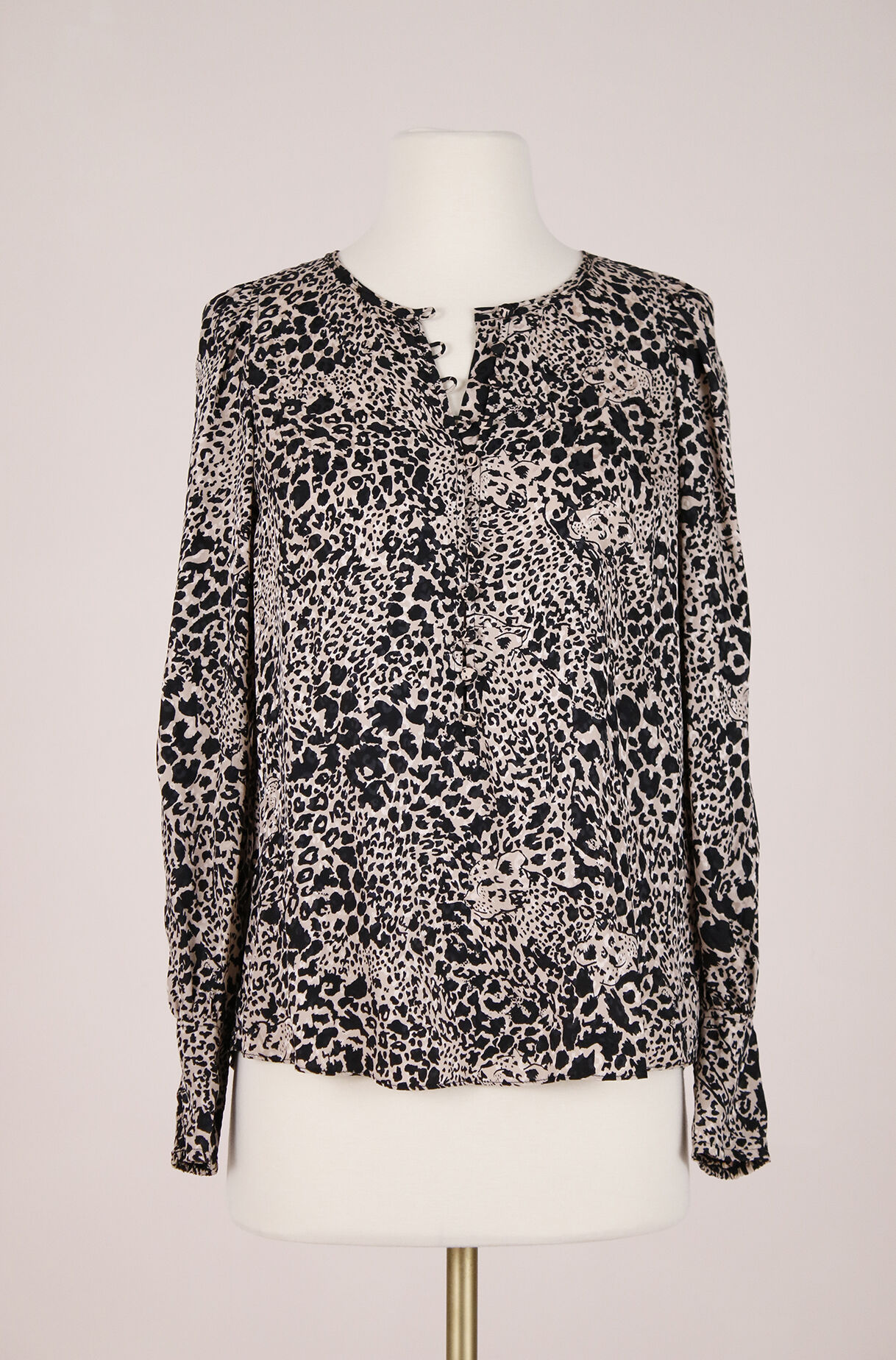 ReCollect Leopard Jacquard Top