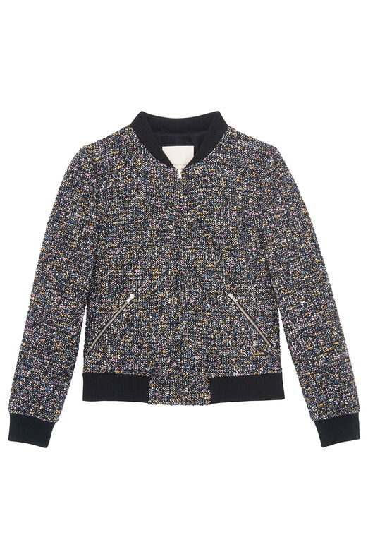 Multi Tweed Bomber Jacket