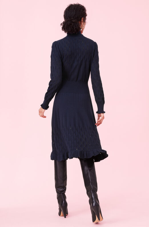 Diamond Pointelle Sweater Dress