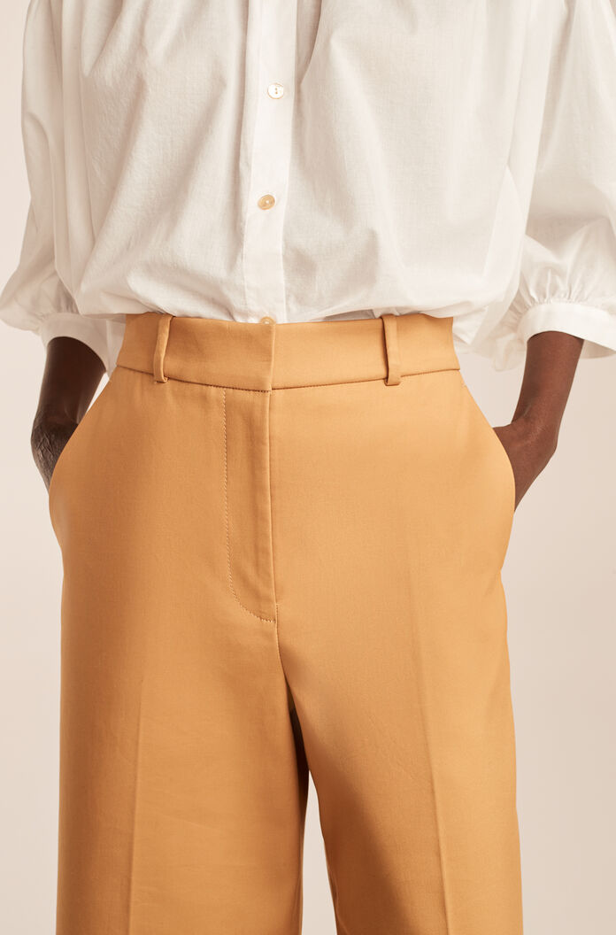 Cropped Flare Chino, Golden Hour, large