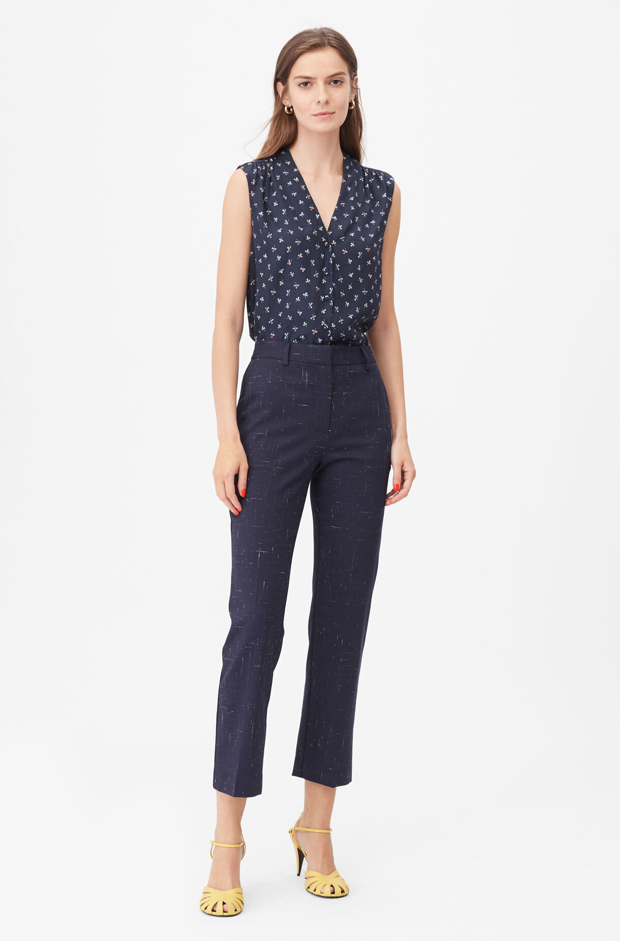 Tailored Cross Hatch Suiting Pant, , large