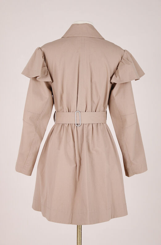 ReCollect Cotton Faille Ruffle Trench