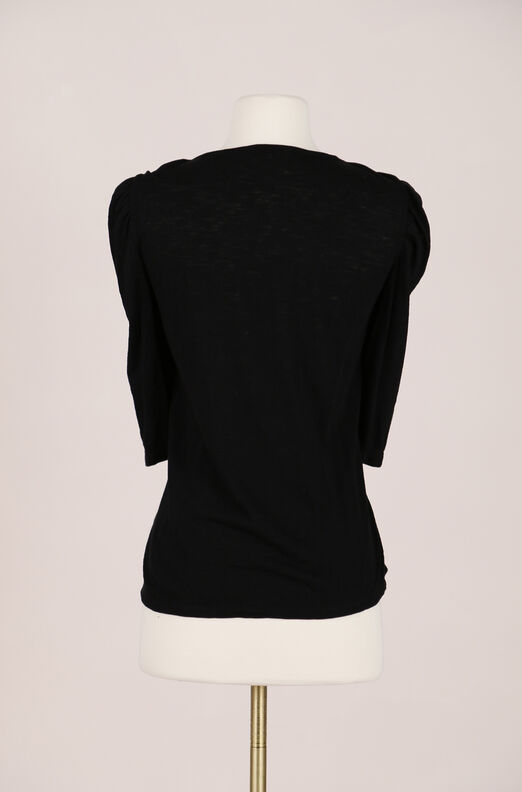 Recollect Knot Neck Jersey Top