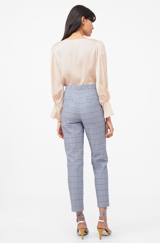 Tailored Windowpane Twill Pant